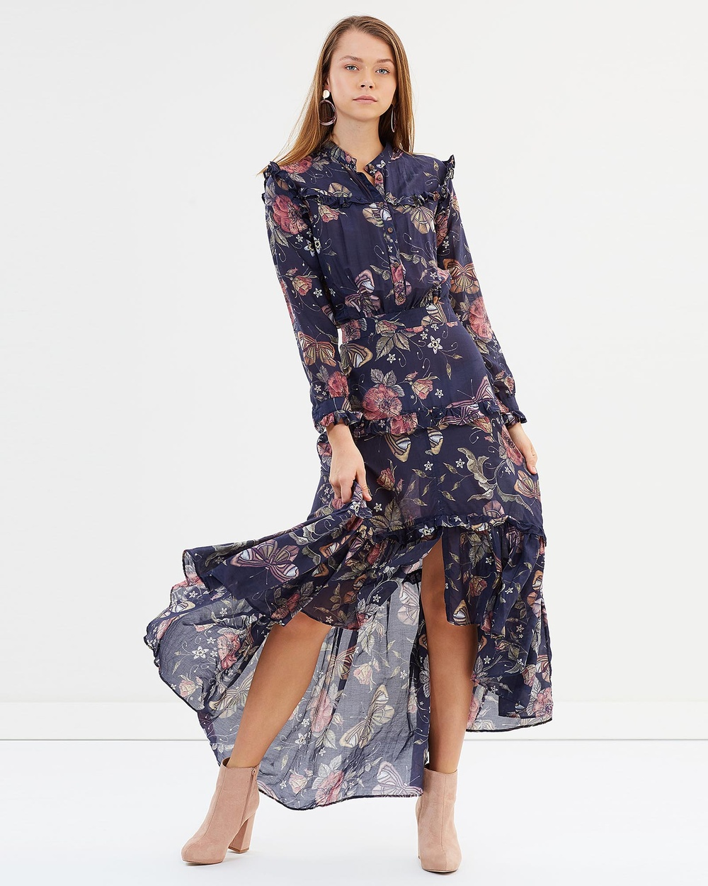 By Weave Evelyn Dress Printed Dresses Multi Evelyn Dress