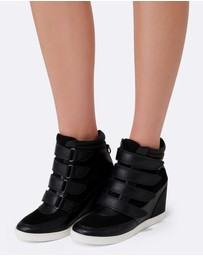 Forever New - Kimmy Strap Wedge Sneakers