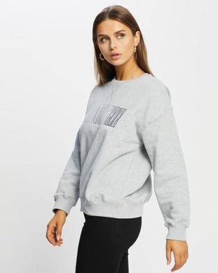 All About Eve - Old Favourite Crew Jumpers (GREY MARLE)