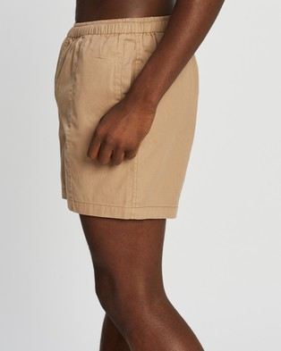 AERE Organic Cotton Club Shorts Sand