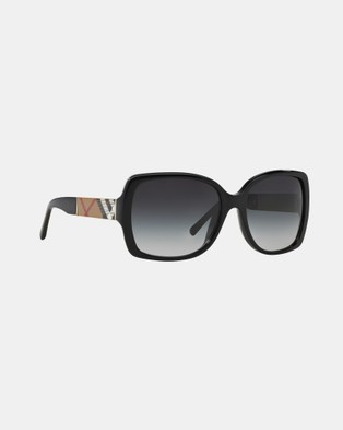 Burberry Heritage Printed Check BE4160 - Sunglasses (Black & Grey Gradient)