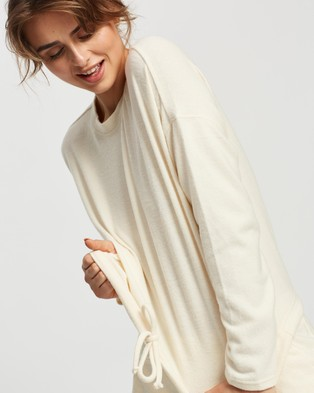 Cotton On Body Super Soft Draw Cord Crew - T-Shirts (Almond Butter Marle)