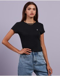 Champion - Ribbed Crop  Tee