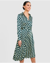 Forcast - Rawin Printed Belt Dress