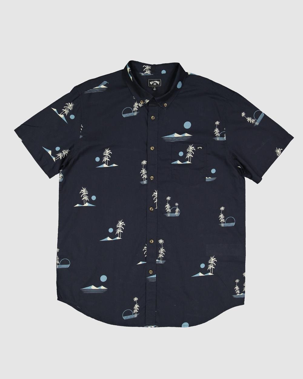 Billabong - Boys Sundays Mini Ss - Long Sleeve T-Shirts (DARK NAVY) Boys Sundays Mini Ss