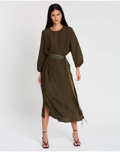 Carl Kapp Eero Dress Olive