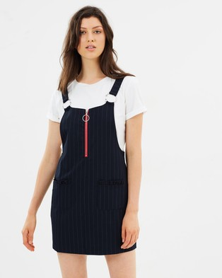 M.N.G – Dungaree College Dress Navy