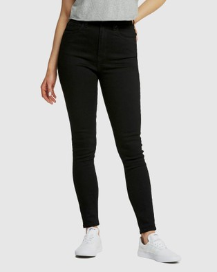 Lee High Licks Crop Jeans - Crop (Primo Black)