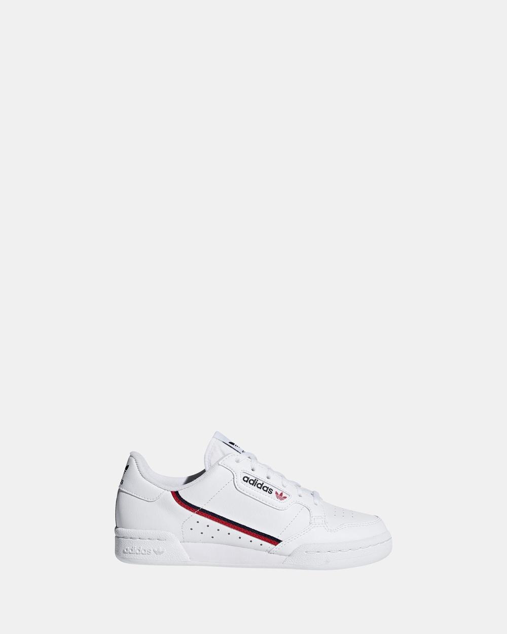 adidas Originals Continental 80 Grade School Sneakers White/Red/Navy Australia