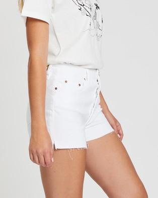 REIKO Servane Shorts - Denim (White)