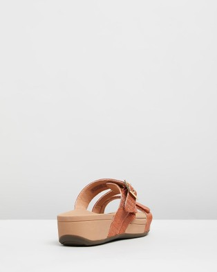 Vionic Rio Platform Sandals - Wedges (Brown Woven)