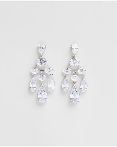 Stephanie Browne Waterfall Earrings Rhodium