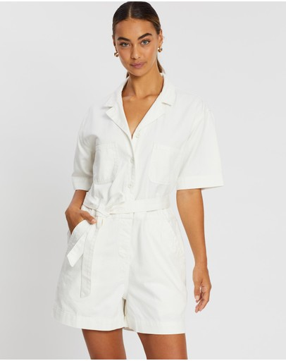 Assembly Label Levy Playsuit Vintage White