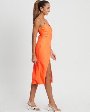 BWLDR Cole Midi Dress - Dresses (Neon Orange)
