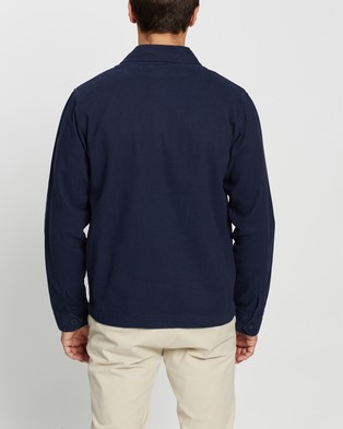 AERE Organic Twill Chore Jacket - Coats & Jackets (Navy)