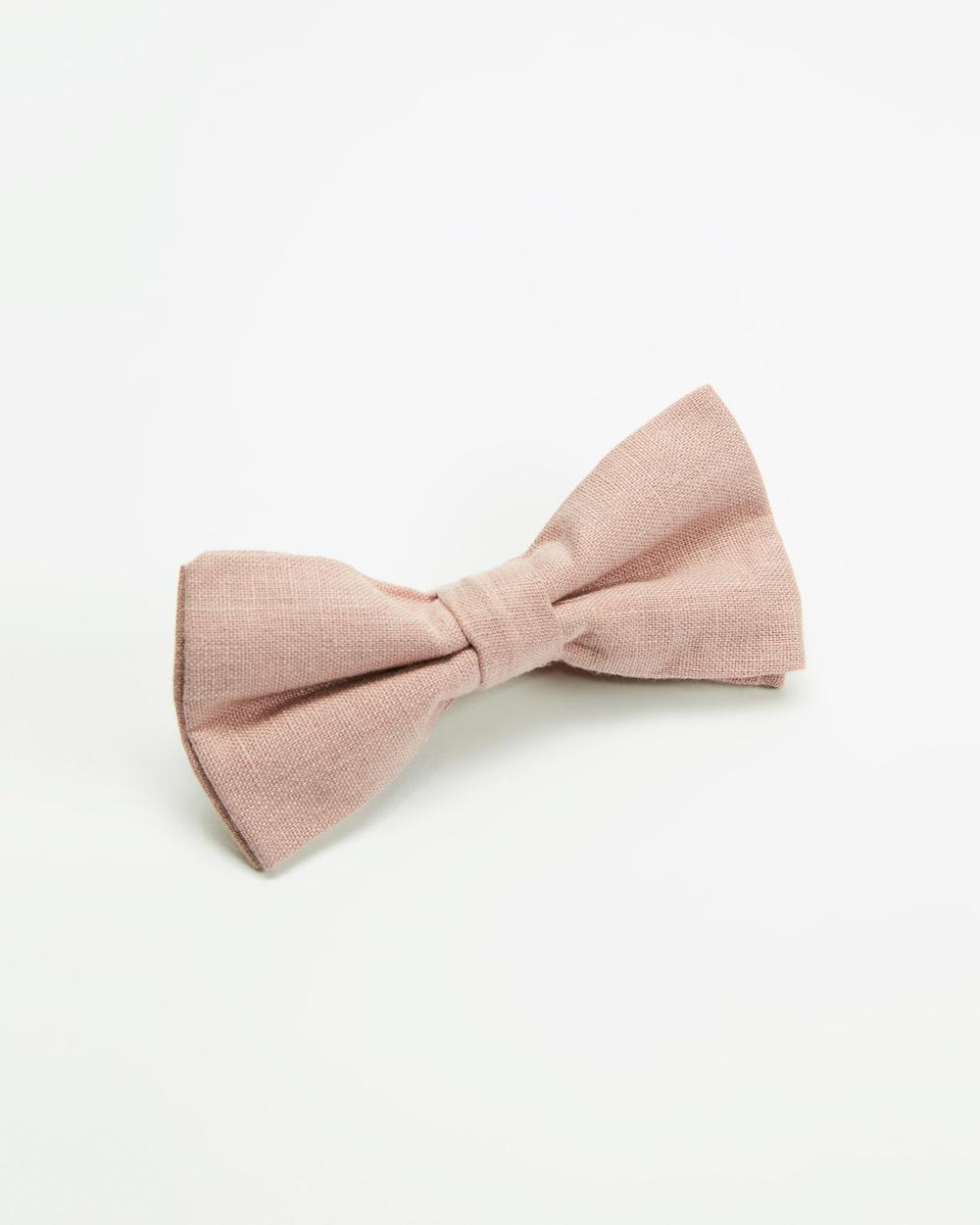 AERE Bow Tie Ties & Cufflinks Pink