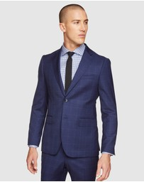 Oxford - Byron Wool Stretch Checked Jacket