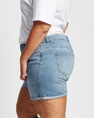 ONLY CARMAKOMA Carhine Regular Shorts - Denim (Light Blue Denim)