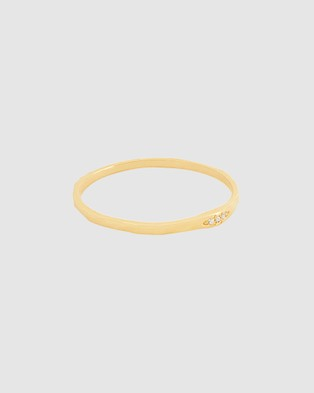 Luna Rae Solid Gold   Milky Way Ring - Jewellery (Gold)