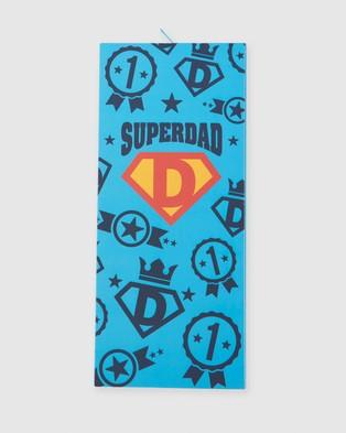 Bamboozld Superdad Socks & Card - Crew Socks (Sky)
