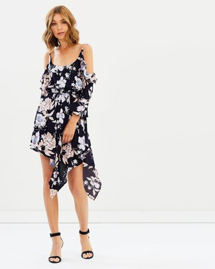 Sass – Garden Party Flutter Dress Garden Party Print Navy