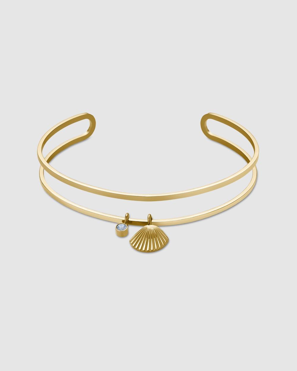 Rosefield Sunray Bangle Jewellery Gold