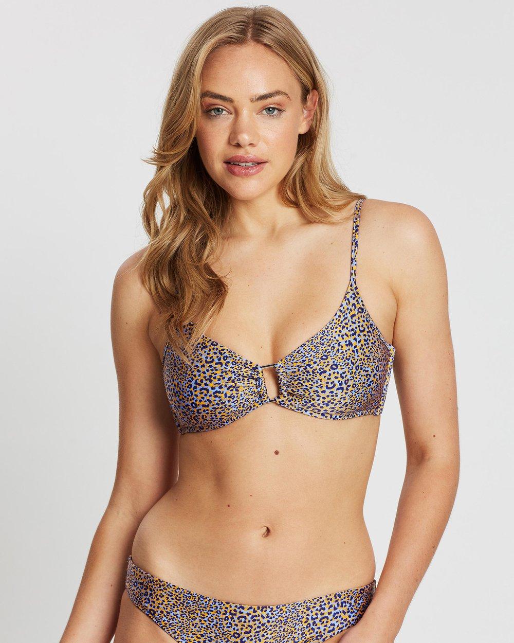 Seafolly Womens Spirit Animal Ring Front Bralette Bikini Top