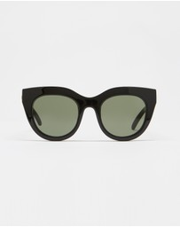 Le Specs - Air Heart Black Round Sunglasses