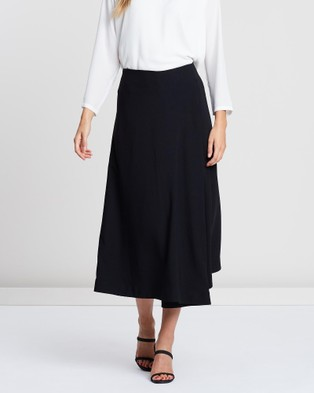 Faye Black Label Draped Wrap Skirt - Skirts (Black)