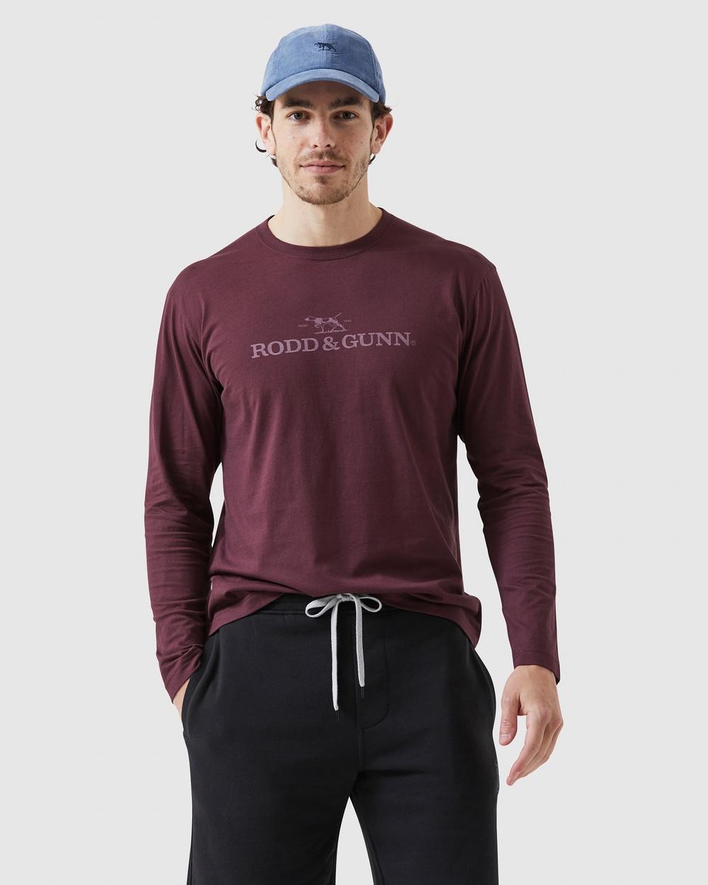 Rodd & Gunn Ls Logo T Shirt T-Shirts Singlets Port T-Shirt Australia