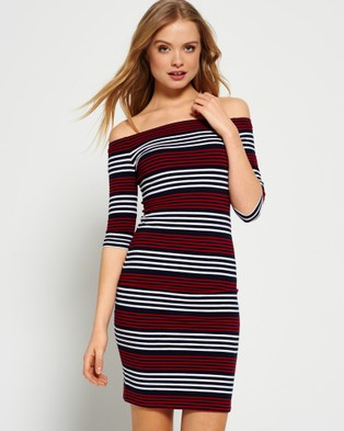 Superdry – Breton Bardot Stripe Dress