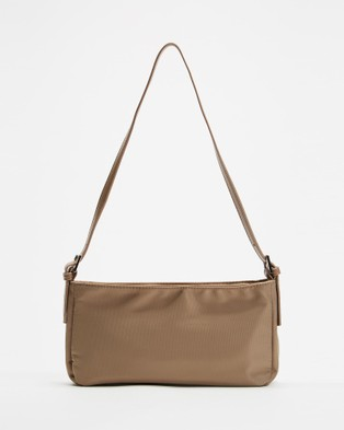 PETA AND JAIN Patience Shoulder Bag - Clutches (Cappucino Nylon)