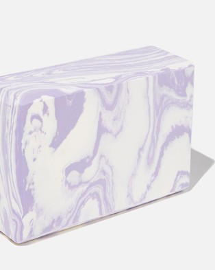 Cotton On Body Active Yoga Block Accessories Chalky Lavendar Swirl