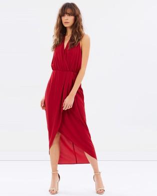 PS The Label – Soul Glitch Dress – Dresses (Burgundy)