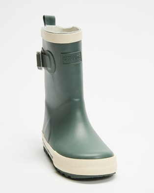Cotton On Kids Fashion Golly Gumboots   Kids - Boots (Green Ecru)
