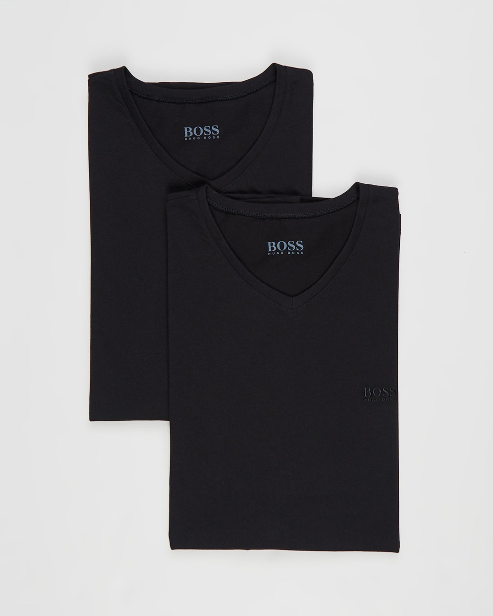 BOSS V Neck T Shirts 2 Pack T-Shirts & Singlets Black V-Neck 2-Pack