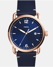 Fossil - The Commuter Blue Analogue Watch