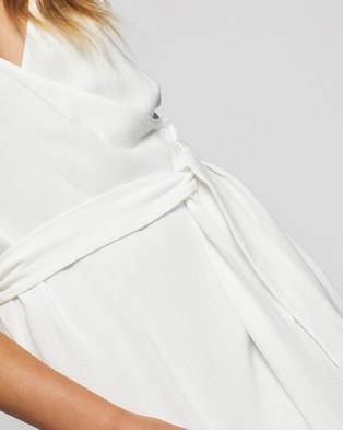 Atmos&Here Evelyn Linen Blend Kimono Dress - Dresses (White)