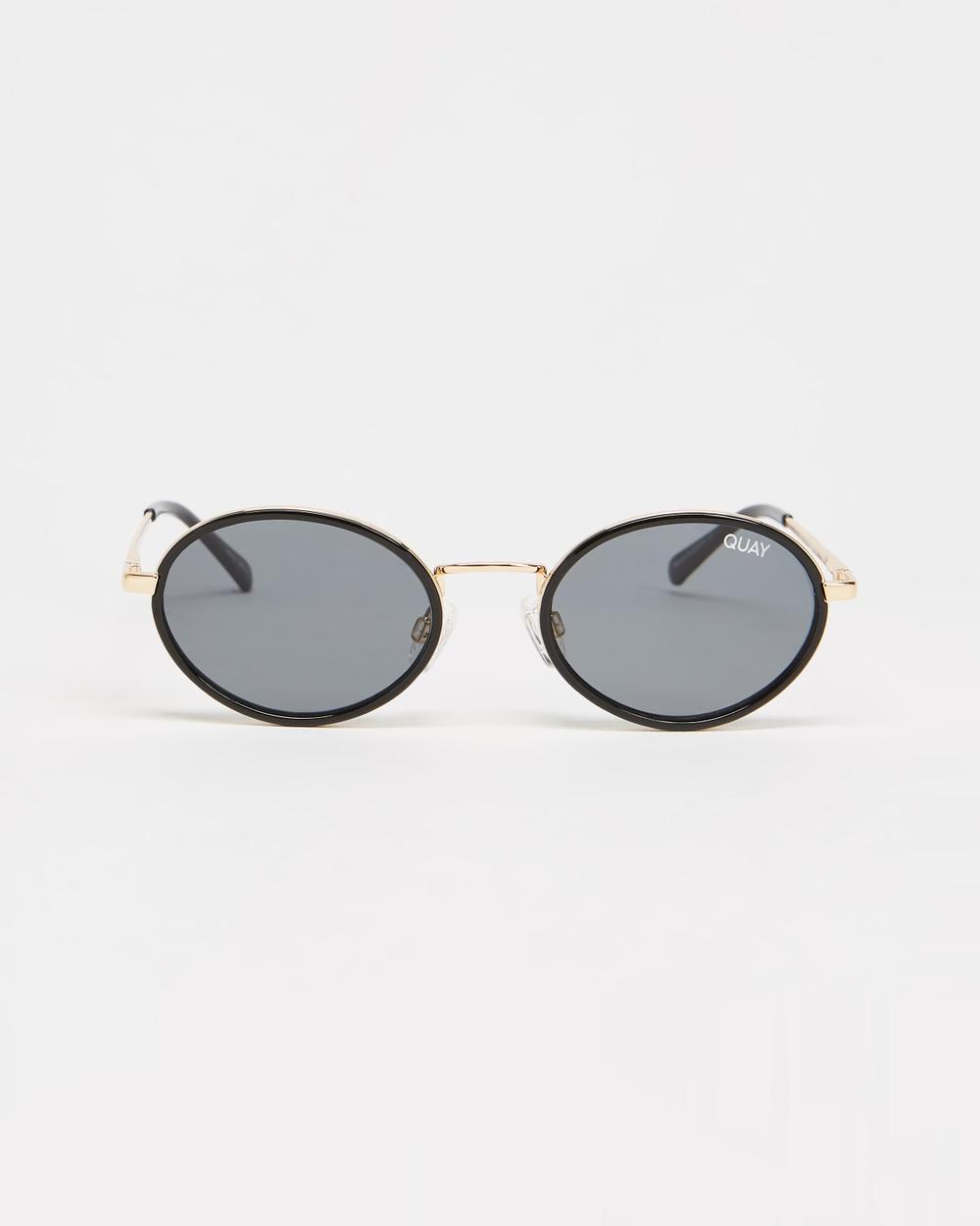 Quay Australia Line Up Sunglasses Black & Smoke Lens