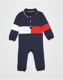 Tommy Hilfiger - Colourblock Coverall LS Onesie - Kids