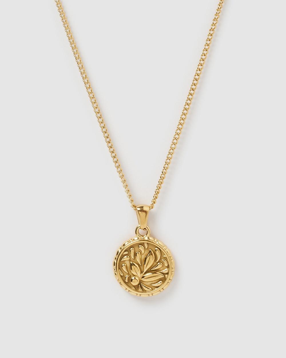 Miz Casa and Co Alicia Pendant Necklace Jewellery Gold