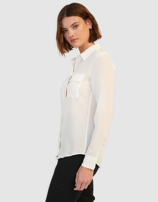 Women Silk Poppy Shirt