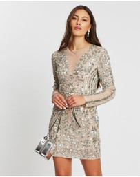Missguided - Embellished Round Neck Mini Dress
