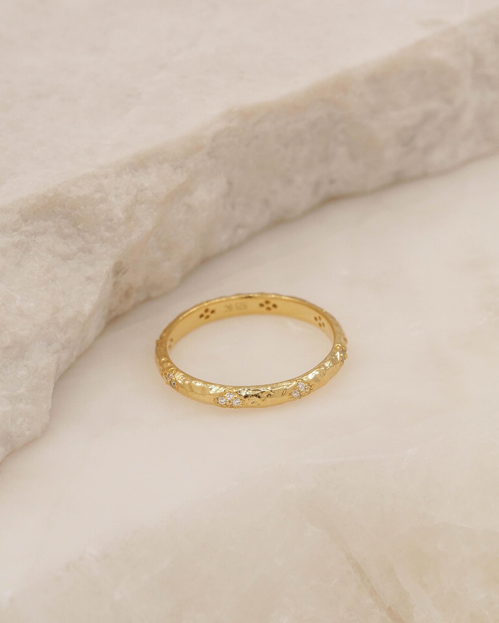 By Charlotte Luminous Gold Ring Jewellery Gold