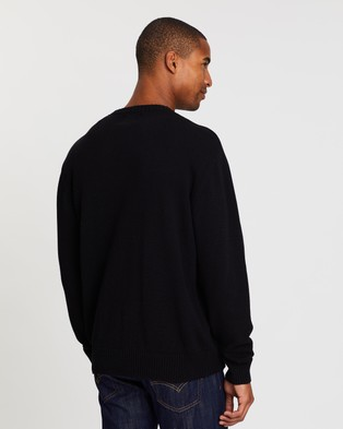 Cotton On Crew Knit - Jumpers & Cardigans (Solid Black)