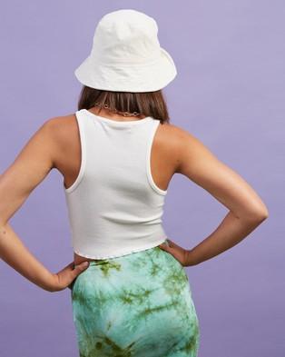 Dazie Take It Easy Cropped Tank - T-Shirts & Singlets (White)