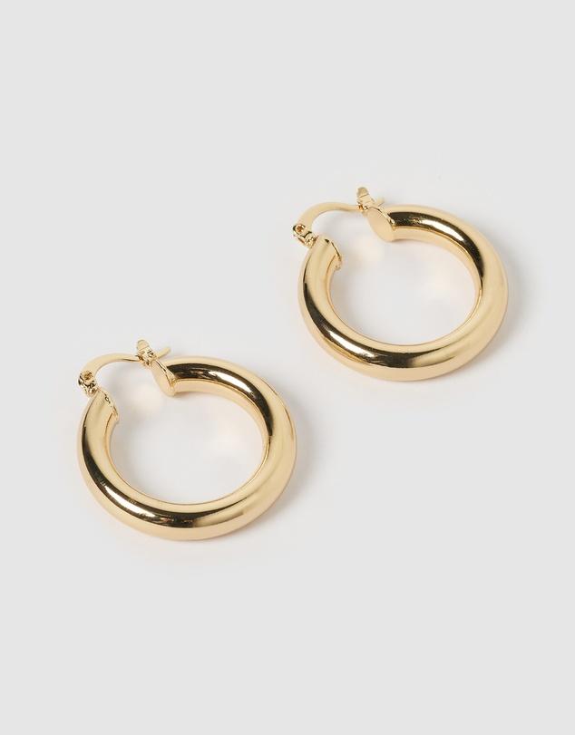Women Small Teddy Hoop Earrings