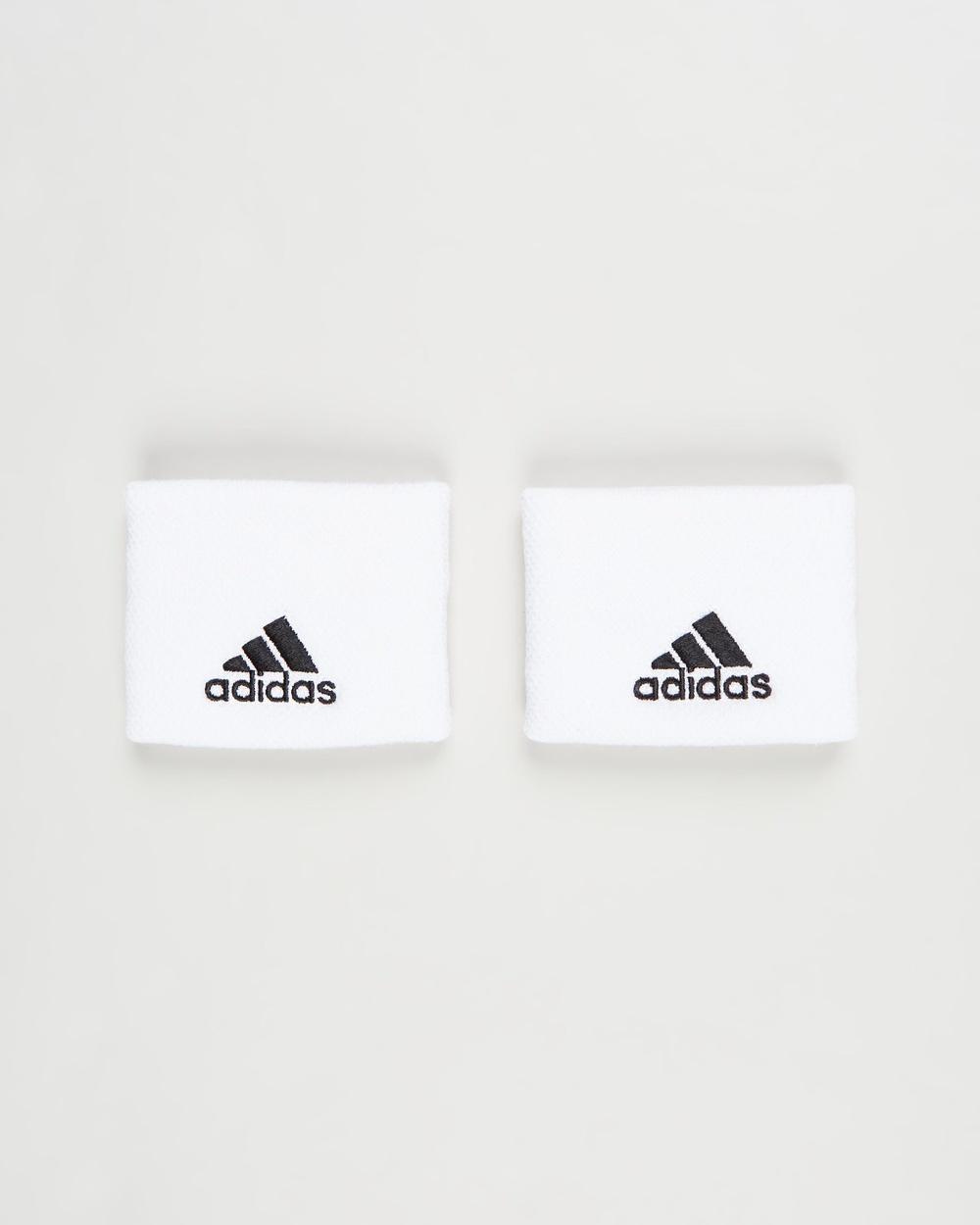 adidas Performance Small Tennis Wristbands Unisex Sweat Bands White & Black