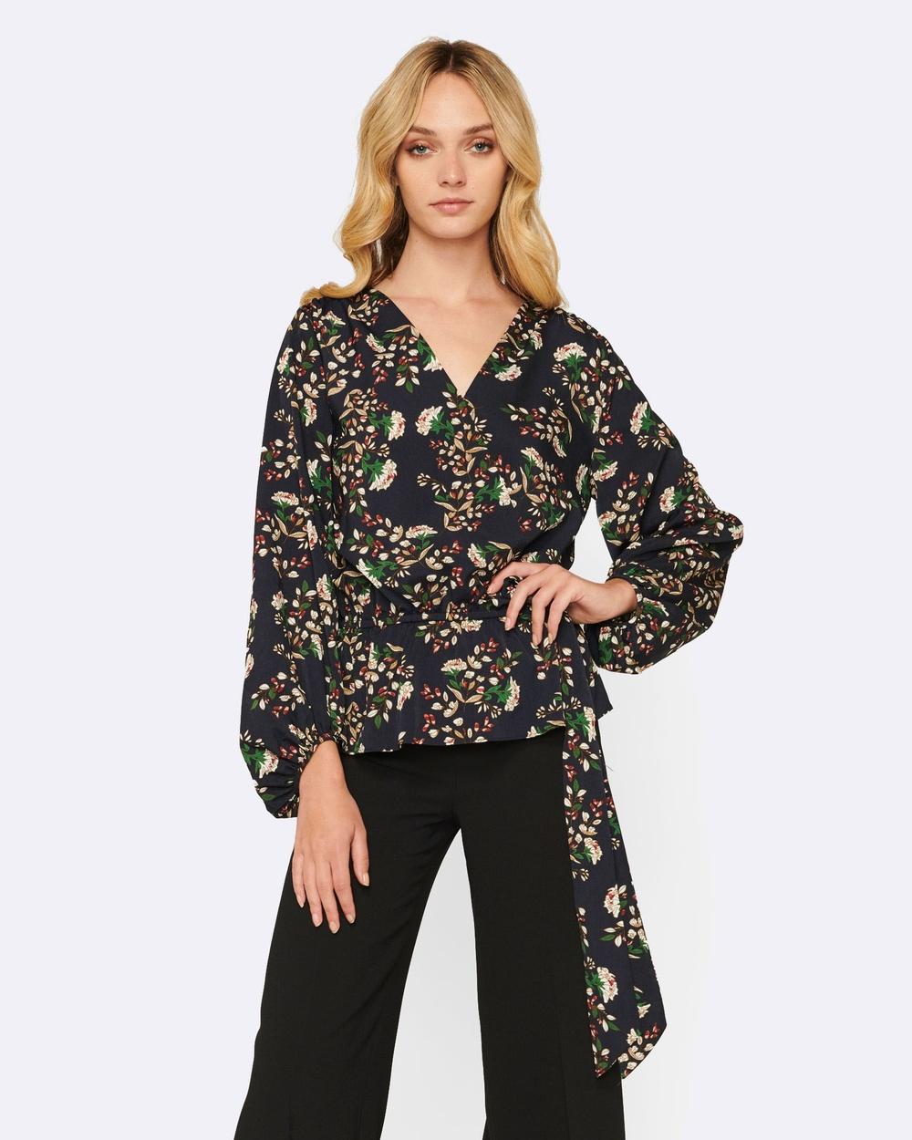 MVN Enchanted Blooms Shirt Tops Navy Enchanted Blooms Shirt