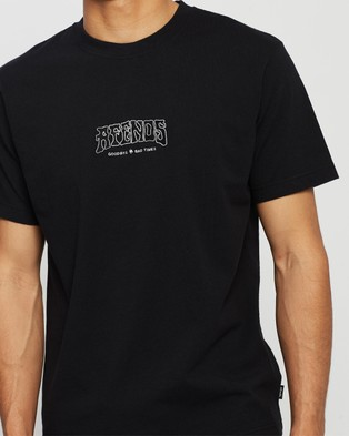 Afends Goodbye Retro Fit Tee - T-Shirts & Singlets (Black)